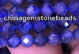 CKC731 15.5 inches 5mm faceted round kyanite gemstone beads