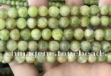 CKC768 15.5 inches 10mm round natural green kyanite beads