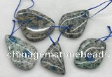 CKJ430 25*35mm - 40*55mm freeform k2 jasper slab pendants