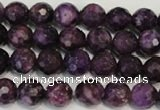 CKU22 15.5 inches 8mm faceted round purple kunzite beads wholesale