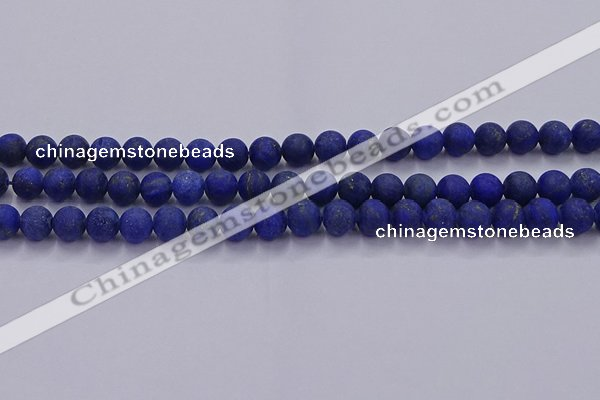 CLA71 15.5 inches 6mm round matte lapis lazuli beads wholesale