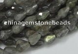 CLB08 16 inches 6*8mm faceted teardrop labradorite beads wholesale