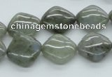 CLB118 15.5 inches 14*14mm diamond labradorite gemstone beads wholesale
