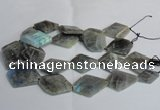 CLB216 15.5 inches 25*35mm - 35*45mm faceted freeform labradorite beads