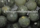 CLB25 15.5 inches 14mm faceted round labradorite gemstone beads