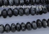 CLB328 15.5 inches 5*10mm rondelle black labradorite beads