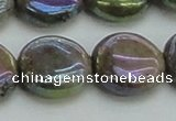 CLB638 15.5 inches 16mm flat round AB-color labradorite beads
