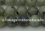 CLB863 15.5 inches 10mm faceted round AB grade labradorite beads