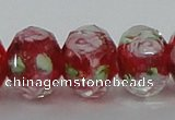 CLG12 13.5 inches 9*12mm faceted rondelle handmade lampwork beads