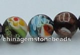 CLG541 16 inches 10mm round goldstone & lampwork glass beads