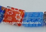 CLG585 16 inches 10*12mm rectangle lampwork glass beads wholesale
