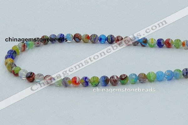 CLG600 16 inches 6mm round lampwork glass beads wholesale