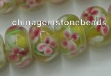 CLG770 14.5 inches 8*12mm rondelle lampwork glass beads wholesale