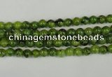 CLJ200 15.5 inches 4mm round dyed sesame jasper beads wholesale