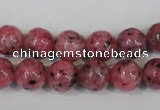 CLJ232 15.5 inches 10mm round dyed sesame jasper beads wholesale
