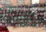 CLJ627 15 inches 8mm faceted nuggets sesame jasper beads