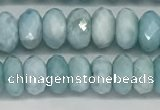CLR139 15.5 inches 4*6mm faceted rondelle natural larimar beads
