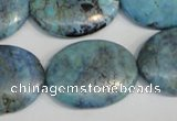 CLR216 15.5 inches 22*30mm oval larimar gemstone beads