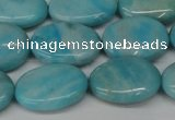 CLR374 15.5 inches 13*18mm oval dyed larimar gemstone beads