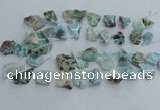 CLR90 Top drilled 15*20mm - 25*35mm freeform larimar beads