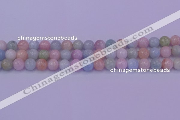 CMG142 15.5 inches 8mm round natural morganite gemstone beads