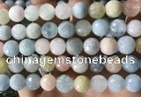 CMG389 15.5 inches 12mm faceted round morganite beads wholesale