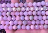 CMG398 15.5 inches 8mm faceted round morganite beads wholesale