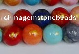 CMJ1012 15.5 inches 8mm round mixed Mashan jade beads wholesale