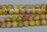 CMJ694 15.5 inches 4mm round rainbow jade beads wholesale