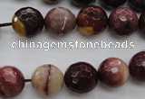 CMK115 15.5 inches 12mm faceted round mookaite beads wholesale