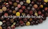 CMK15 15.5 inches 4mm faceted round mookaite beads wholesale