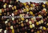 CMK19 15.5 inches 4*6mm faceted rondelle mookaite beads wholesale