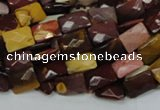 CMK37 15.5 inches 10*14mm faceted rectangle mookaite beads wholesale