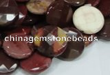 CMK53 15.5 inches 14mm faceted coin mookaite beads wholesale