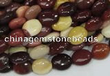 CMK73 15.5 inches 8*10mm oval mookaite gemstone beads wholesale