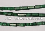 CMN240 15.5 inches 4*8mm faceted tube natural malachite beads