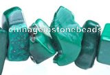 CMN27 34 inches freeform shape natural malachite chips beads