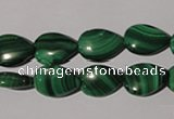 CMN282 15.5 inches 10*14mm flat teardrop natural malachite beads