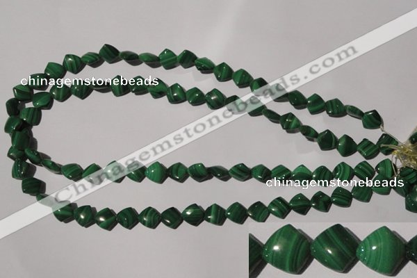 CMN289 15.5 inches 10*10mm trapezoid natural malachite beads