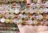 CMQ536 15.5 inches 12mm faceted round colorfull quartz beads