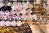 CMQ548 15.5 inches 14mm faceted round colorfull quartz beads