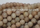 CMS02 15.5 inches 6mm round moonstone gemstone beads wholesale