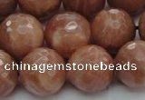 CMS1016 15.5 inches 14mm faceted round AA grade moonstone beads