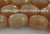 CMS1101 15.5 inches 13*18mm faceted rice moonstone gemstone beads