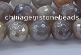 CMS1313 15.5 inches 10mm faceted round AB-color grey moonstone beads