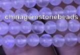 CMS1408 15.5 inches 4mm round white moonstone beads wholesale