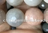CMS1459 15.5 inches 12mm faceted round AB-color moonstone beads