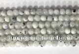 CMS2001 15.5 inches 8mm round white moonstone gemstone beads