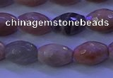 CMS582 15.5 inches 8*11mm faceted rice moonstone gemstone beads