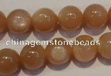 CMS704 15.5 inches 12mm round peach moonstone beads wholesale
